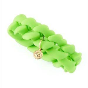 Marc Jacobs Green Silicon Link Bracelet